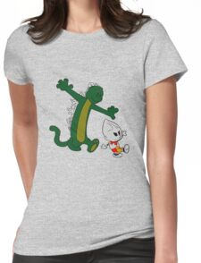 Jet and Godzilla Womens Fitted T-Shirt