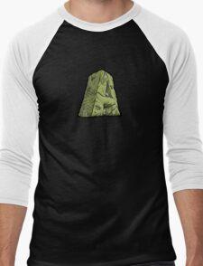 "Abysmal Alphabet - Deluxe - ""A"" - Green Men's Baseball ¾ T-Shirt"