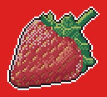 Pixel Strawberry Kids Clothes
