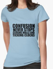 And Ticking Clocks Womens Fitted T-Shirt
