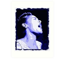 Billie in blues, Billie Holiday Art Print