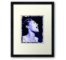 Billie in blues, Billie Holiday Framed Print