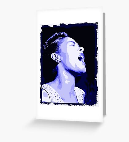Billie in blues, Billie Holiday Greeting Card