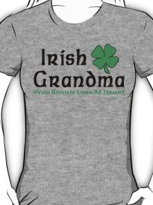 "Irish ""Irish Grandma - Wee Bonnie Lass At Heart"" T-Shirt"