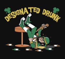 "St Patrick's Day ""Designated Drunk"" Dark by HolidayT-Shirts"