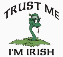 "Funny Irish ""Trust Me I'm Irish"" Kids Clothes"