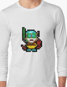 Pool Party Pixel Ziggs Long Sleeve T-Shirt