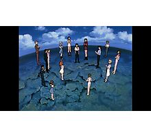 Neon Genesis Evangelion - CONGRATULATIONS - 2015 1080p Blu-Ray Cleaned Upscales Photographic Print