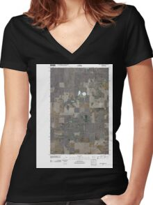 USGS Topo Map Washington State WA Saint Andrews 20110425 TM Women's Fitted V-Neck T-Shirt