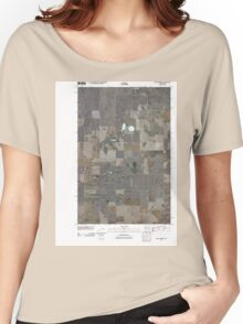 USGS Topo Map Washington State WA Saint Andrews 20110425 TM Women's Relaxed Fit T-Shirt