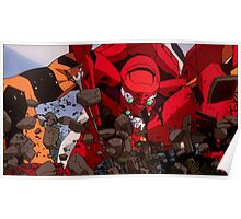 Neon Genesis Evangelion - Evangelion Unit-02 - 2015 1080p Blu-Ray Cleaned Upscales Poster