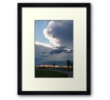 Storm Over the Praries Framed Print