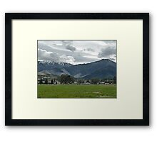 Small Town Mountains Framed Print