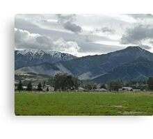Small Town Mountains Canvas Print