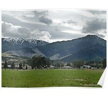 Small Town Mountains Poster