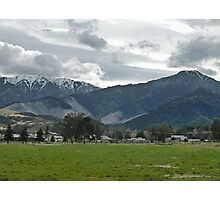 Small Town Mountains Photographic Print