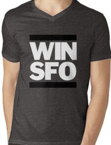 San Francisco Giants WIN SFO (adult size) Mens V-Neck T-Shirt