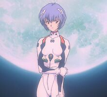 Neon Genesis Evangelion - Rei Ayanami Moon - 2015 1080p Blu-Ray Cleaned Upscales by frc qt