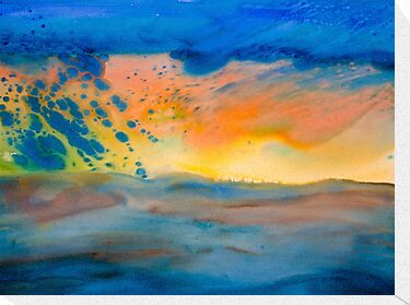 Watercolour: Bolide by Marion Chapman