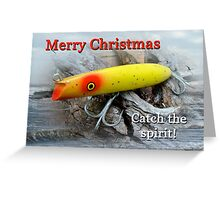 Christmas Greeting Card - Gibbs Darter Vintage Fishing Lure Greeting Card