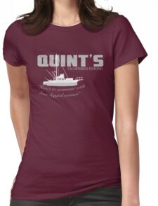 Quint's Chartered Fishing Womens Fitted T-Shirt