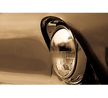 56 Chev Headlamp Photographic Print