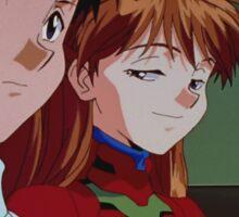 Neon Genesis Evangelion - Smug Asuka and Shinji - 2015 1080p Blu-Ray Cleaned Upscales Sticker