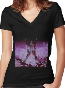Neon Genesis Evangelion - Unit - 2015 1080p Blu-Ray Cleaned Upscales Women's Fitted V-Neck T-Shirt