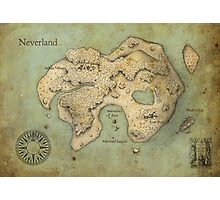 Peter Pan Neverland Map Photographic Print