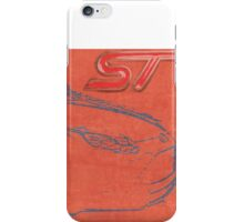 Focus ST Mk3 Drawing with ST Logo iPhone Case/Skin