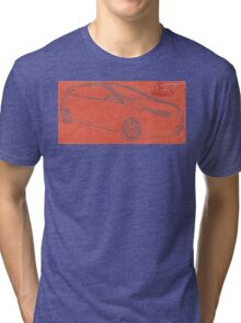 Focus ST Mk3 Drawing with ST Logo Tri-blend T-Shirt