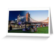 Sunset/Night Olympic Tower Bridge Greeting Card