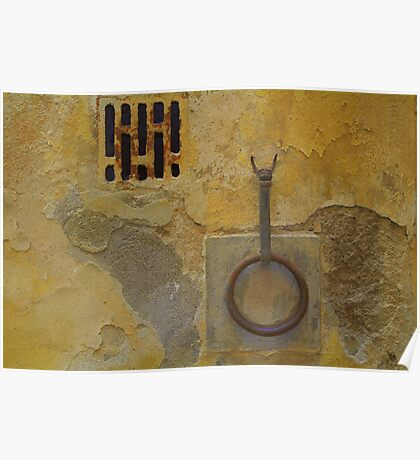 Wall - Siena, Tuscany, Italy Poster