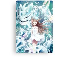 Pokemon - Jasmine - Steelix (no text) Canvas Print