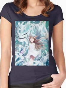 Pokemon - Jasmine - Steelix (no text) Women's Fitted Scoop T-Shirt