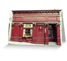 Auberge-Restaurant Greeting Card