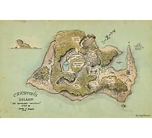 Crichton's Island Map Photographic Print