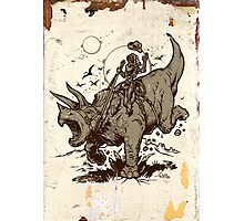 Triceratops CowBot Photographic Print