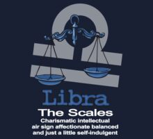 Libra The Scales centred One Piece - Short Sleeve
