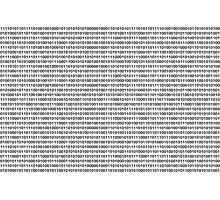 The Binary Code Photographic Print