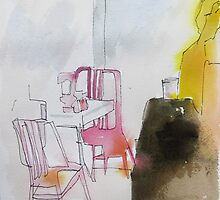 NY pink chairs by donnamalone