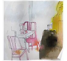 NY pink chairs Poster