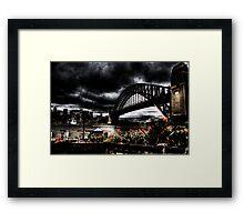 Storm Clouds over Sydney Harbour Framed Print