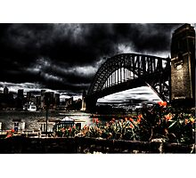 Storm Clouds over Sydney Harbour Photographic Print