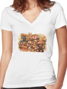 Smash Bros Women's Fitted V-Neck T-Shirt
