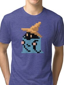 FINAL FANTASY - BLACK MAGE - RENDER (REDRAWN PIXEL) Tri-blend T-Shirt