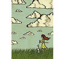 Girl Under the Clouds  Photographic Print