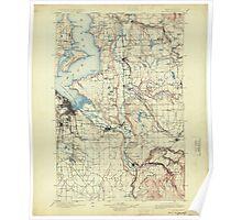 USGS Topo Map Washington State WA Tacoma 244183 1900 125000 Poster