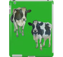 Two Cows on Green iPad Case/Skin