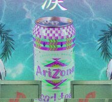 Neon Genesis Evangelion - Rei Ayanami - VAPORWAVE / AESTHETIC Sticker